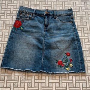 Denim skirt from j crew factory